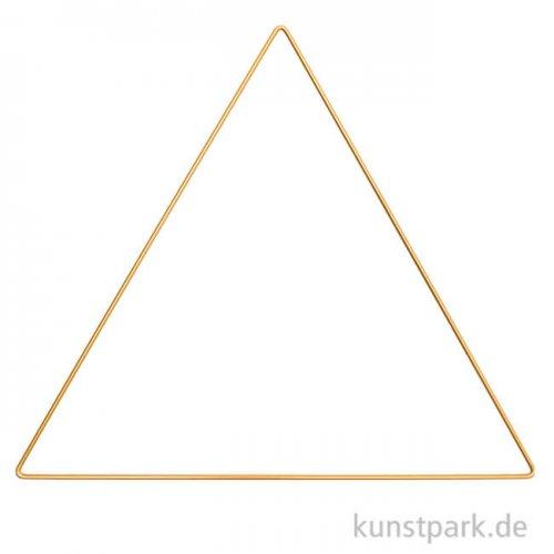 Metallring Dreieck - Gold 30 cm