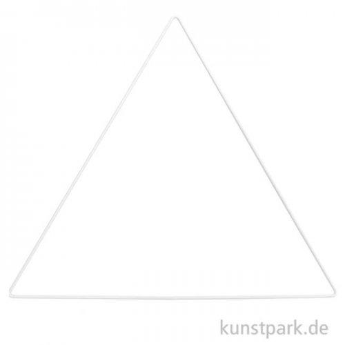 Metallring Dreieck - Weiß