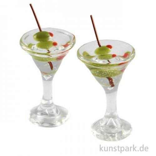 Mini Cocktailgläser, 2 Stück, 2 x 1 cm