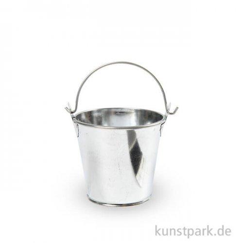 Mini-Eimer aus Zink, 50 mm, 6 Stück