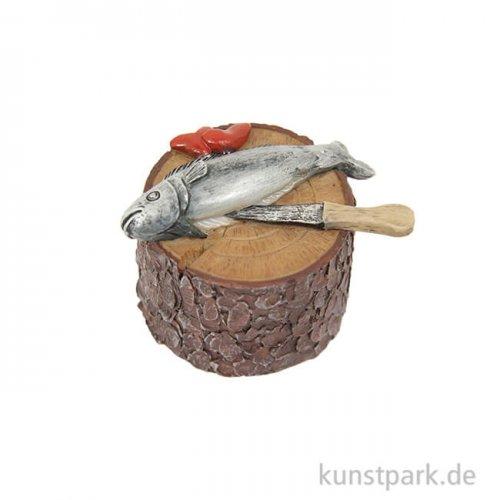 Mini-Fisch auf Hackstock 3,3 cm
