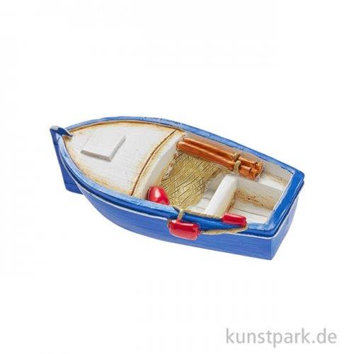 Mini Fischerboot - Blau, 6x3 cm