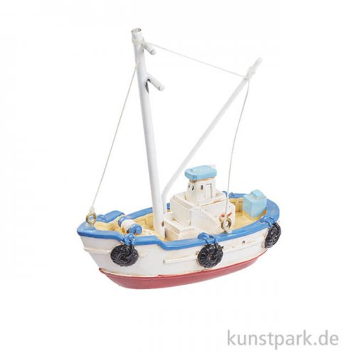 Mini Fischerboot - Dunkelblau, 7,5 cm