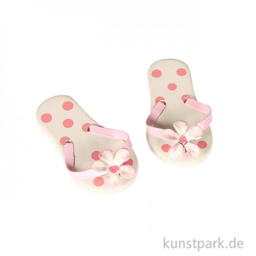 Mini Flip-Flops - rosa gepunktet, 4,5 cm
