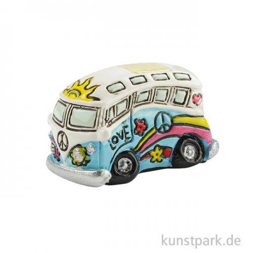 Mini Flower-Power Bus, 3,8x2x2 cm