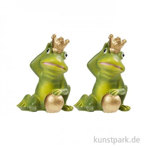 Mini Frosch-König, 4 cm, 2 Stück