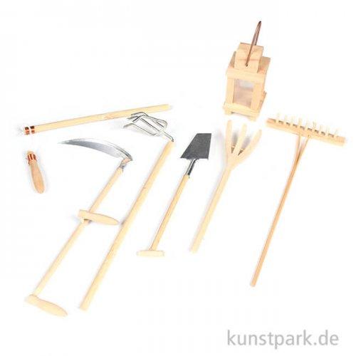 Mini-Gardening Zubehör Set - Ernte, 14-17 cm