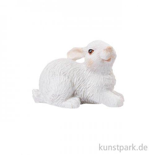 Mini Hase - Weiß, 3,5 cm