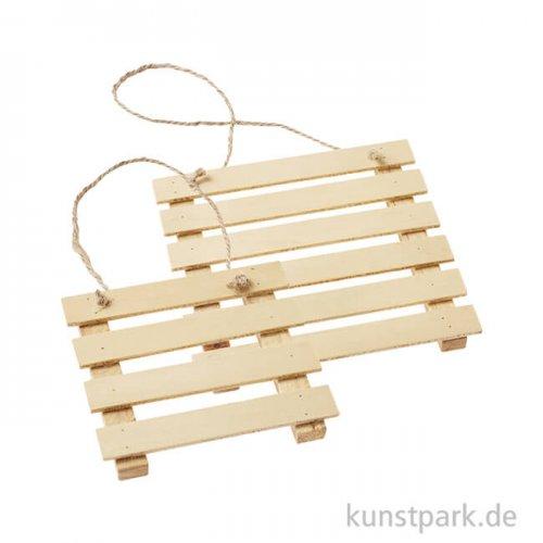 Mini Holz-Palette - Natur