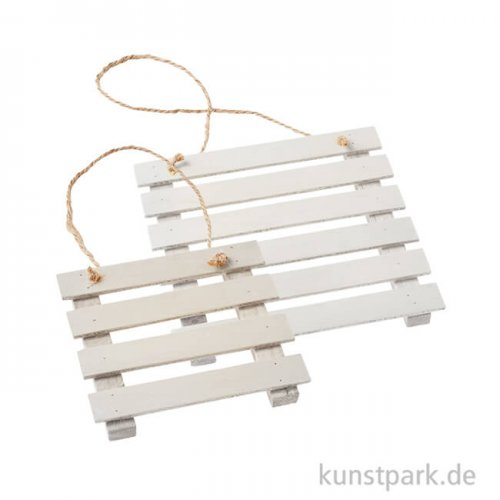 Mini Holz-Palette - Weiß
