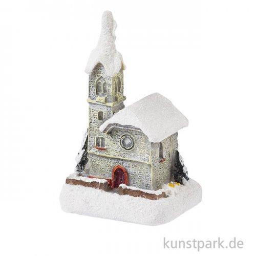 Mini Kirche mit Glitzer, 5,5 cm