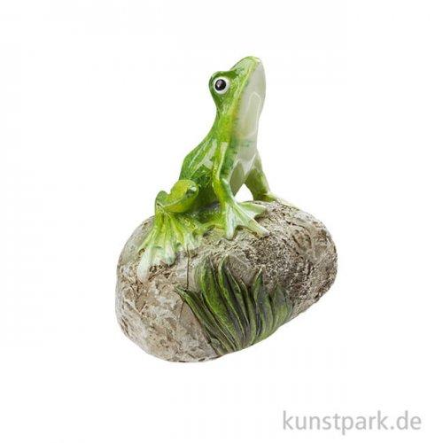 Mini Laubfrosch auf Stein, 4,5 cm