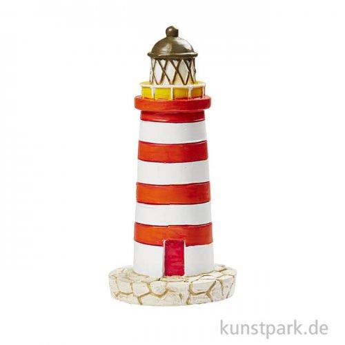 Mini Leuchtturm - Rot-Weiß, 7,5 cm