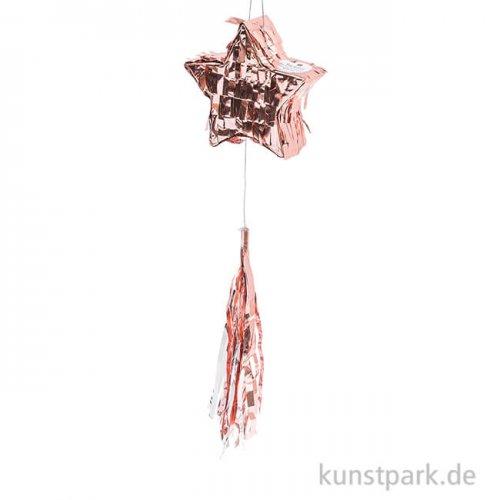 Mini Piñata - Stern, Rosa-.glänzend