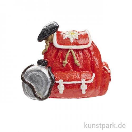 Mini Rucksack Hiking - Rot, 3,5 cm