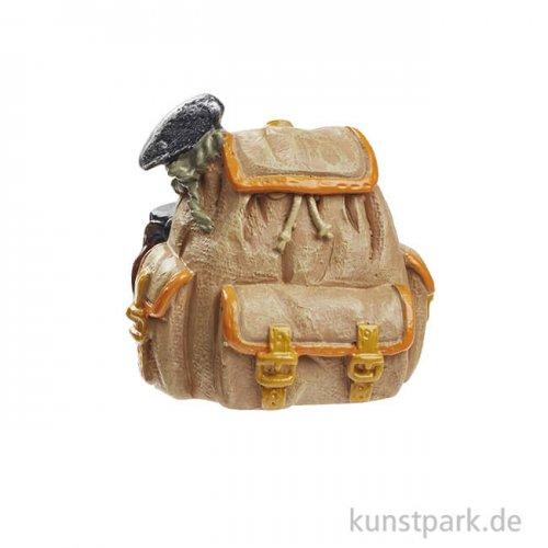 Mini Rucksack Trekking - Braun, 3,5 cm
