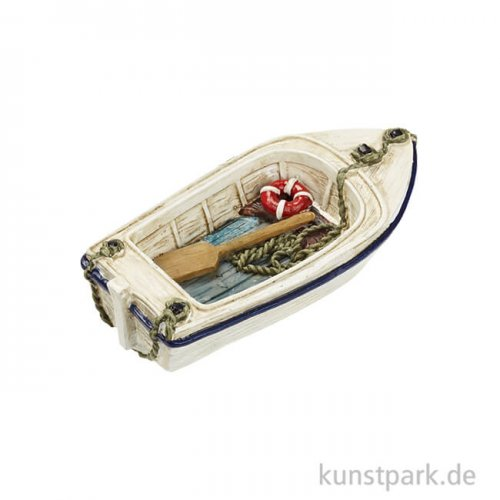 Mini Ruderboot - Weiß, 7 cm