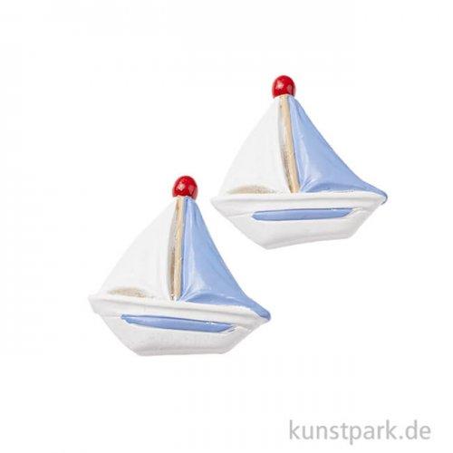 Mini Segelschiff, 4 cm, 2 Stück