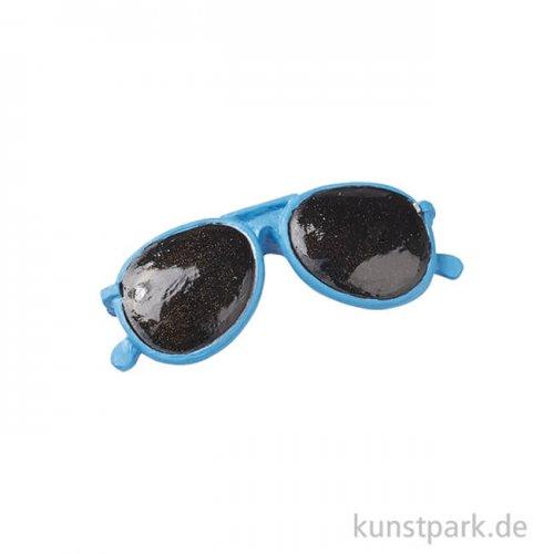 Mini Sonnenbrille, 3 cm, 2 Stück Blau