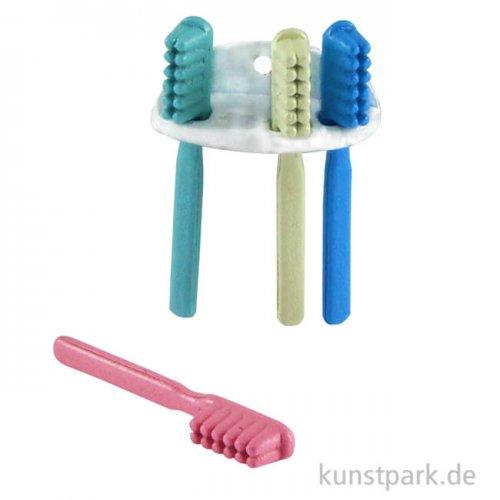 Mini Zahnbürstenset mit Halter, 2 cm