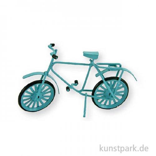 Miniatur Fahrrad - hellblau, 9 cm