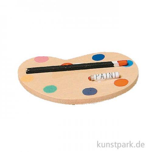 Miniatur Farbpalette 5 cm
