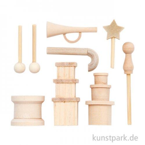 Miniatur - Gegenstände aus Holz, weihnachtlich