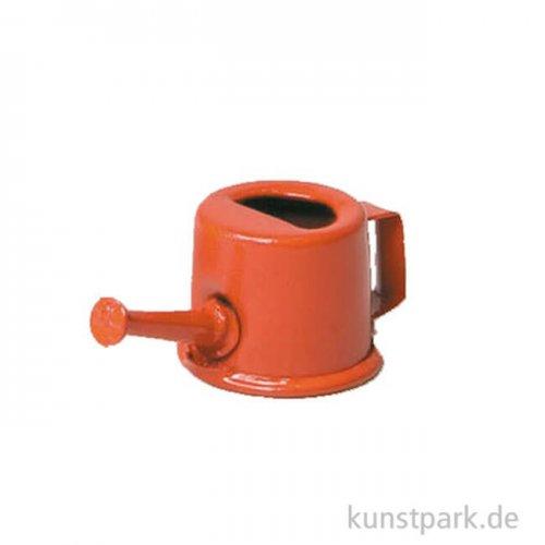 Miniatur Gießkanne aus Metall - rot, 3 cm