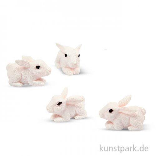 Miniatur Hasen, 10 mm, 4 Stück