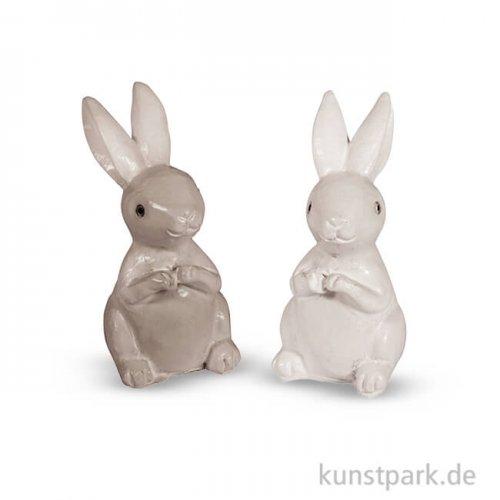 Miniatur-Hasen, 2x2x4 cm, 4 Stück sortiert