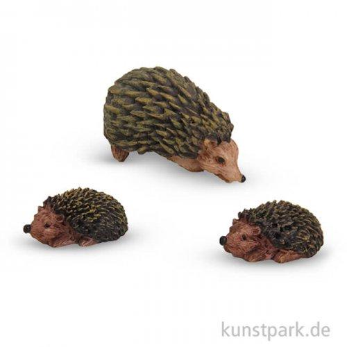 Miniatur-Igel, 3 cm, 3 Stück sortiert