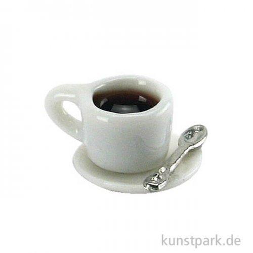 Miniatur Kaffeetasse mit Löffel 1 cm