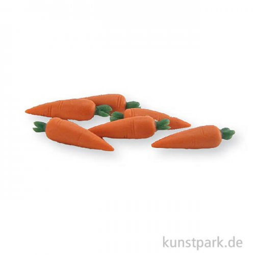 Miniatur Karotten 2 cm, 6 Stück