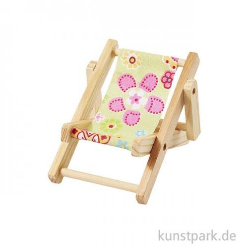 Miniatur-Liegestuhl Strandparty - Gelb, 10 cm