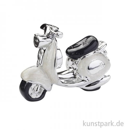 Miniatur Roller - Weiß, 5 cm