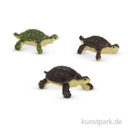 Miniatur-Schildkröten, 1,2 cm, 3 Stück sortiert