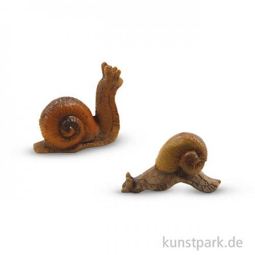Miniatur-Schnecken, 1,8 cm, 2 Stück sortiert