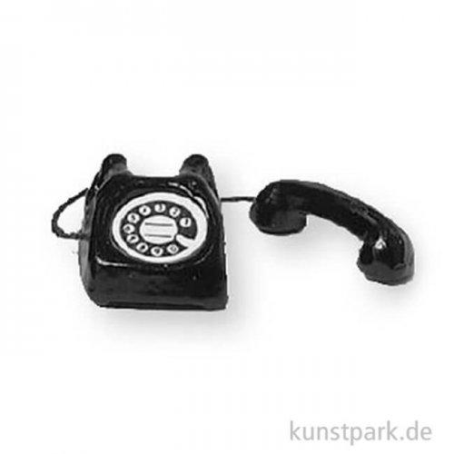 Miniatur Telefon - schwarz, 1,5 cm