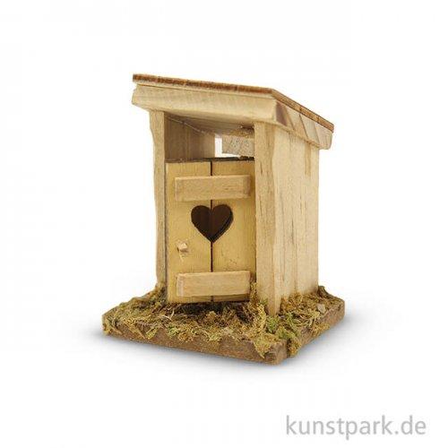 Miniatur-Toilettenhäuschen, 6 cm