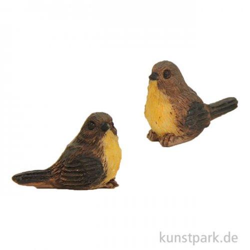 Miniatur Vögel, 1 cm, 2 Stück sortiert