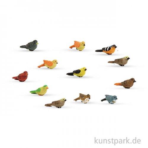 Miniatur-Vögel, 1,3 cm, 12 Stück sortiert