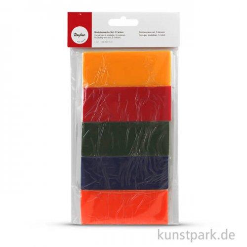 Modellierwachs-Set, 20x10x0,5 cm, 5 Farben sortiert