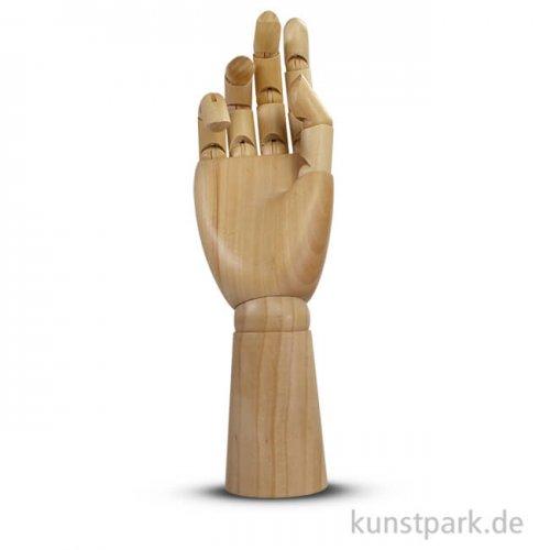 Männliche Modellhand aus Holz