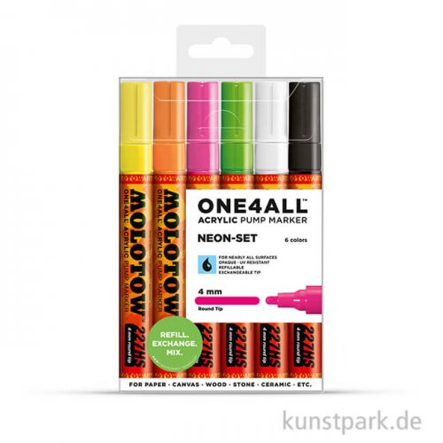 Molotow ONE4ALL Marker - 227HS Neon-Kit