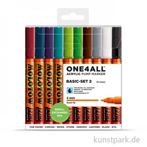 Molotow ONE4ALL Marker - HS127 Basic-Set 2 10er