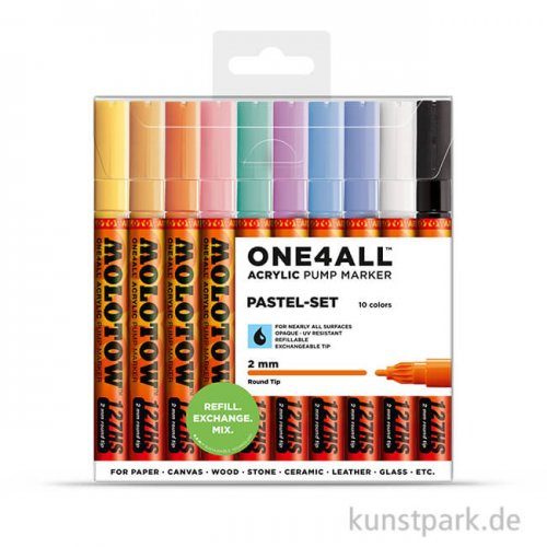 Molotow ONE4ALL Marker - HS127 Pastel-Set 10er
