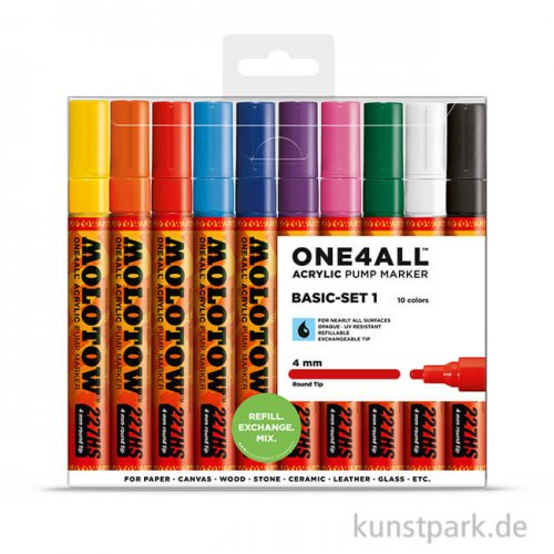 Molotow ONE4ALL Marker - HS227 Basic Set 1 10er