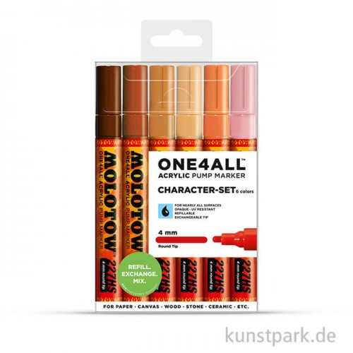 Molotow ONE4ALL Marker - 227HS Character Set 6er