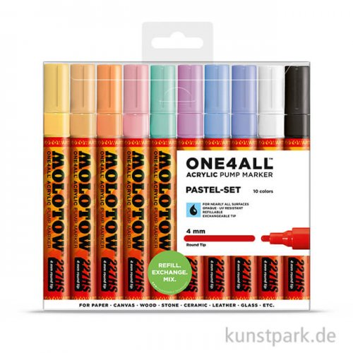 Molotow ONE4ALL Marker - HS227 Pastel Set 10er