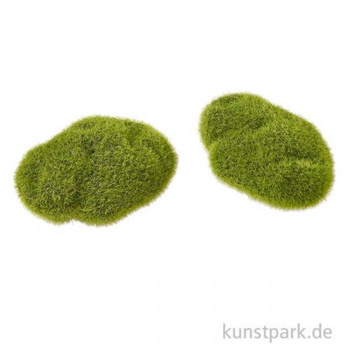 Moos-Steine, 6 cm, 2 Stück